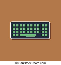 paper sticker on background of computer keyboard