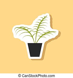 paper sticker on stylish background Ficus