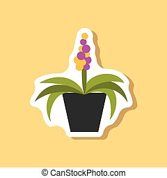 paper sticker on stylish background hyacinth