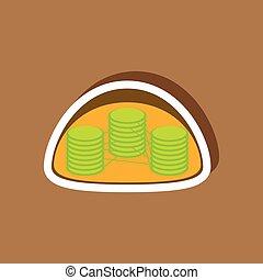 paper sticker on stylish background chloroplast