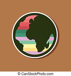paper sticker on stylish background of gays Earth symbol