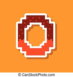 paper sticker on stylish background pretzel
