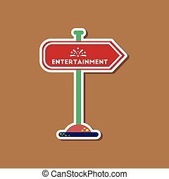 paper sticker on stylish background sign entertainment