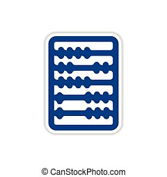 paper sticker on white background abacus