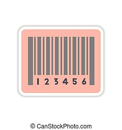 paper sticker on white background barcode