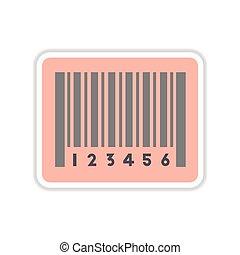 paper sticker on white background barcode