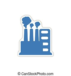 paper sticker on white background factory