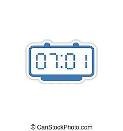 paper sticker on white background Digital Watch