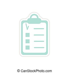 paper sticker on white background form