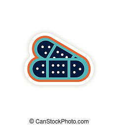 paper sticker on white background medical patch