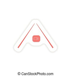 paper sticker on white background sushi Roll