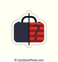 paper sticker on white background x-ray baggage