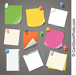 Paper stickers clip-art. Template for a text