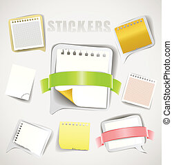 Paper stickers with ribbons collection
