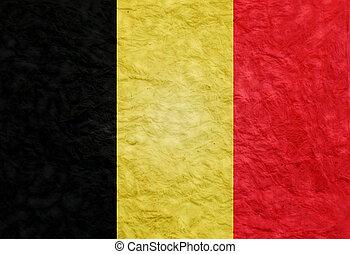 Paper style flag of Belgium