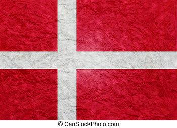Paper style flag of Denmark