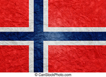 Paper style flag of Norway