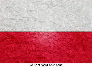 Paper style flag of Poland