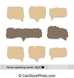 Paper style vector speech bubbles
