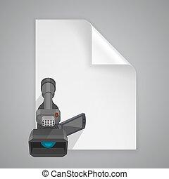 Paper symbol camera