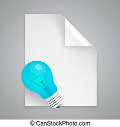 Paper symbol lamp