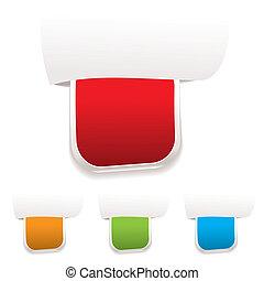 Paper tab label