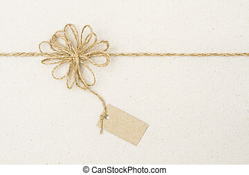 Paper Tag Label and Rope Bow Decoration, Gift Wrapping Paper...