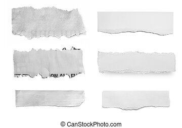Collection of paper tears, ready for your message.