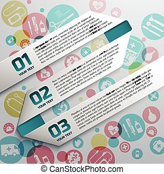 Paper Text Ribbons At Medical Background
