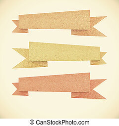 Paper texture ,Header tag recycled paper on vintage tone style