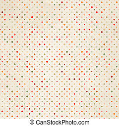 Paper textured polka dots pattern. EPS 8
