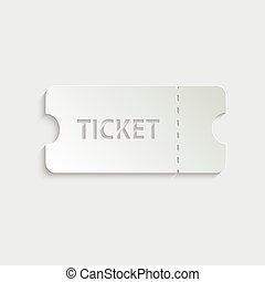 paper ticket icon -  vector