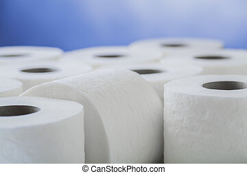 paper toilet rolls - rolls of toilet paper for hygiene...