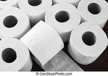 paper toilet rolls - rolls of toilet paper for hygiene...