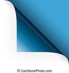Paper - top corner - blue