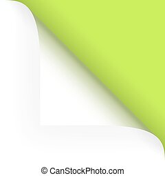 Paper - top corner - green