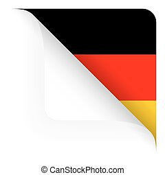 Paper - top corner rounded - Country flag of Germany