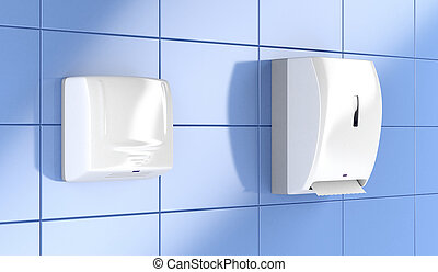 Paper towel dispenser and hand dryer - Automatic paper towel...