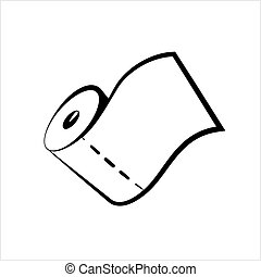 Paper Towel Icon, Roll Of Paper Towel