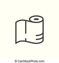 Paper towels line icon