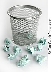 Paper trash isolated over white