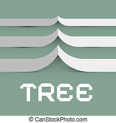 Paper Tree Vector Symbol