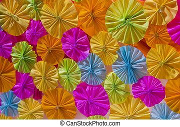 Paper umbrella.