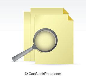 paper under review illustration design