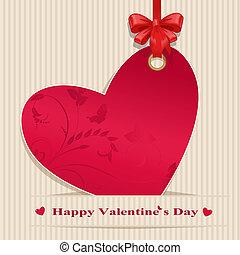 Paper valentine handmade bow