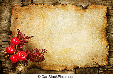 paper., vecchio, decorazioni, copyspace, natale