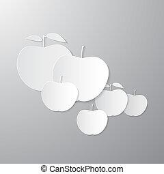 Paper Vector Apples