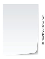 paper vector - blank paper with page curl, realistic...