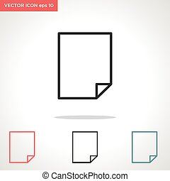 paper vector icon isolated on white background