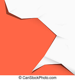 Paper Vector Illustration on Red Background